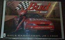 DALE EARNHARDT JR BUDWEISER BUD 1999 NASCAR POSTER NEW RARE