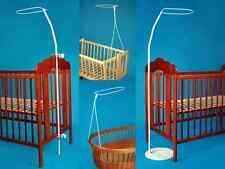 HOLDER FOR BABY COT DRAPE CANOPY MOSQUITO ROD BAR CLAMP POLE MOSES BASKET