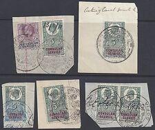 Uk Gb 1900's King Edward Revenues Tied Sofia Bulgaria British Consulate