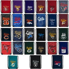 "NEW Football Backpack Backsack Tote Bag Pick your Team 17.5"" x 13"""
