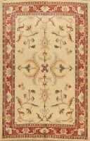 Floral Oushak-Chobi Oriental Area Rug Dining Room Hand-knotted Wool Carpet 7'x9'