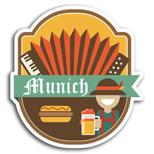 2 x 10cm Munich Germany Bavarian Vinyl Stickers - Sticker Laptop Luggage #19539