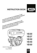 More details for hatz diesel engine 1b 20 27 30 40 50 instruction book reprint comb bound