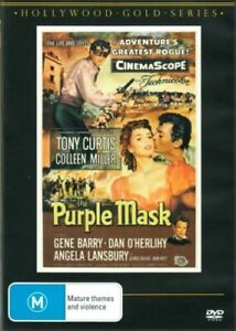 THE PURPLE MASK DVD 1955 NEW Region 4 Tony Curtis Colleen Miller Gene Barry RARE
