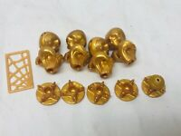 Monster High Doll Clawdeen Bunk Bed Replacement Pieces Gold Skull Knobs & More