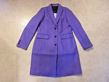 NEW J CREW PARKE TOPCOAT  SIZE-6 #G7790 ICY PURPLE JACKET COAT