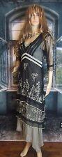 Nataya Age of Love Romantic Victorian Titanic Dress Black/Silver. 5901. Pretty!