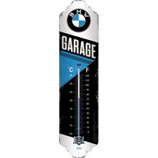 Metall Thermometer BMW - Garage 28 x 6,5 cm BlechTM27