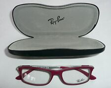 00792e2b61 Ray Ban RB 7017 5198 54-17145 Red Silver Frames and Black Case