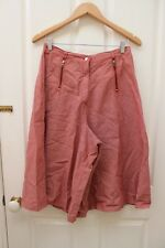 Wraggs Vintage High Waisted Short Culottes Red Striped Pinstripe Size 10-12