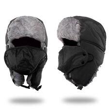 Red Trapper Bomber Warm Russian Trooper Fur Earflap Winter Ski Hat Men Women Cap