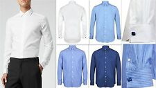 Cotton Double Cuff Easy Iron Regular Formal Shirts for Men