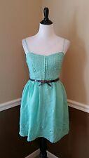 City Triangles $65 Mint Green Cotton Eyelet Sun Dress 7 Modcloth Festival