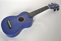 Soprano Beginners Ukulele  & 4 Free Felt Picks. In Blue by Clearwater
