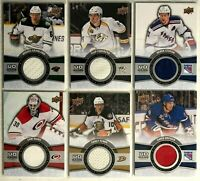 6 Card Jersey Lot 2015-16 Upper Deck Game Jerseys Rangers Perry Ward Wild