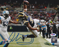 Todd Gurley Signed 8x10 St. Louis Rams Photo - Jump Color Lions PSA/DNA COA