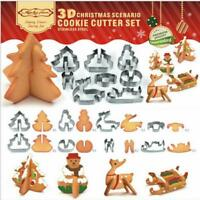 8Pcs Style 3D Cookie Biscuit Cutter Cake Decorating Mould Set Pastry Baking Tool