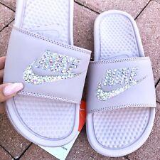 f09f089ba NWT Nike Womens Slides Sandals Swarovski Crystal Bling Bedazzled Blush Size  10