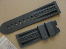 24mm Black Rubber Strap-Band fit 44mm PAM Luminor 24mm X 22mm