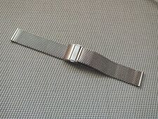 Brushed Stainless Steel Shark Mesh Quick Release Watch Strap 18mm