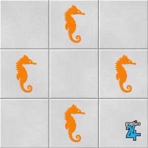 Seahorses Vinyl Wall Tile Stickers Decals Bathroom Home Decor