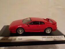 Lotus Esprit V8 - Red, Diecast Metal Model, 1/43 Scale