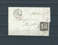 France 1859 wrapper with 10 centimes chiffre tax stamp
