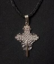ETHIOPIAN ORTHODOX CHRISTIAN  CROSS NECKLACE BRASS PLATED
