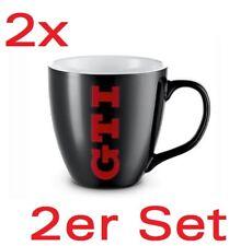 2x Volkswagen GTI Tassen Tasse Kaffeebecher Porzellan 1K1069601