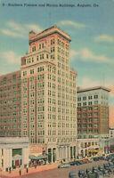 Postcard Southern Finance Marion Building Augusta Georgia