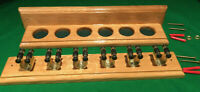 SNOOKER/POOL SOLID OAK HAND CRAFTED 6 CUE RACK.. EASY ASSEMBLY