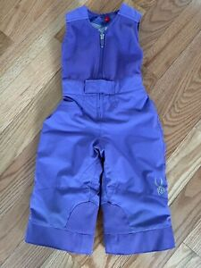 Toddler Spyder Iris Bitsy Bib Snow Ski Pants Size 2