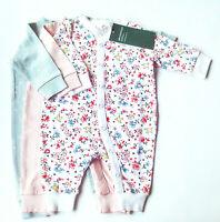 3x Schlafanzug Gr.44 H&M NEU Einteiler Set 100% baumwolle frühchen newborn baby