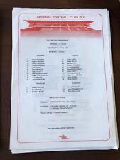 1995-96 ARSENAL VS LEEDS LEAGUE SINGLE SHEET PROGRAMME