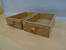 2 x alte Schublade Holz Schubkasten Holzbox Holzkiste verzapft
