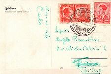 BELLA AFFRANCATURA - DUE POPOLI UNA GUERRA + 150DIN. - LJUBLJANA 1941 C4-894