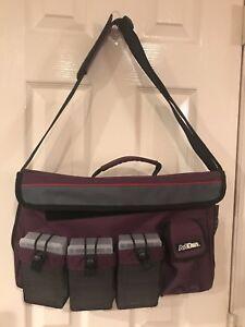 "ARTBIN BAG PURPLE 16"" X 10"" TOTE W/SHOULDER STRAP TRAVEL ART BAG"