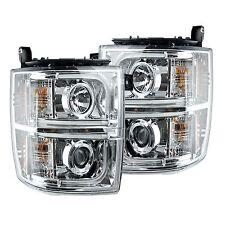 RECON 264275CLC Chevy Silverado 1500 14-15 Clear-Chrome Headlights Projector