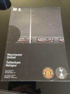 2009 Manchester United V Tottenham Hotspur League Cup Final Soccer Programme