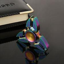Rainbow Alloy Hand Spinner Tri Fidget Focus Toy EDC Finger Spin Gyro ADHD Autism