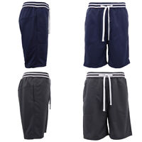 Mens Cascual Shorts w Striped Elastic Waistband Drawstring Sports Pants Trousers