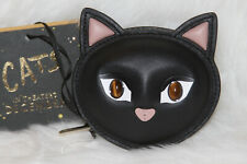 NWT! KATE SPADE x Cats Meow Cat Coin Pouch Black Leather Limited Edition