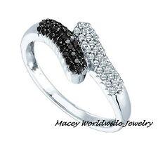 14K White Gold Twilight Black  Diamond Elegant Beautiful Ring .27Ct