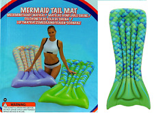 Inflatable 6ft GREEN Mermaid Tail Swimming Lilo Pool Float  Sun Lounger Bed Mat