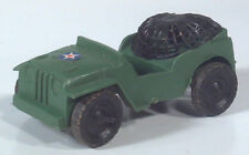 "Vintage Army Military Jeep CJ  3.5"" Plastic Scale Model With Net Tow Hitch"