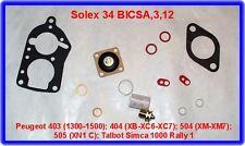 Solex 34 BICSA,Verga.Kit,Peugeot 403,404,504,505,Simca