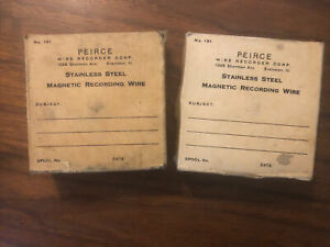 2 New Vintage Peirce Magnetic Wire Recorder spool 3 3/4  for 55b,GE, Armour etc