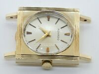 Movado vintage 14K gold 17 jewels square mechanical men's watch