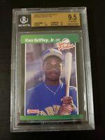 1989 Donruss Rookies #3 Ken Griffey Jr. BGS 9.5 GEM MINT