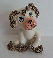 "Figurine Spaghetti Dog Puppy Fly Bee On Head 5"" Lefton China Japan Rare Vintage"